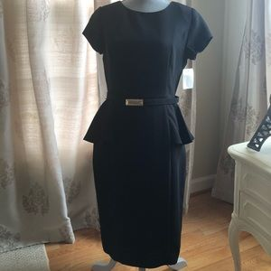 Eliza J Peplum belted dress.